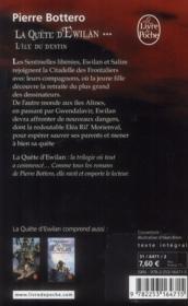 La quête d'Ewilan T.3 ; l'île du destin - 4ème de couverture - Format classique