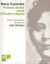 Poemes choisis suivis d etudes critiques - Couverture - Format classique