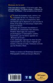 Romans de la nuit - 4ème de couverture - Format classique