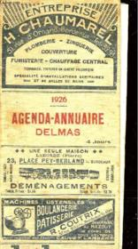 Agenda-Annuaire Delmas - Couverture - Format classique