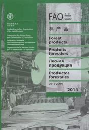 Vente livre :  FAO yearbook ; forests products 2010-2014  - Collectif