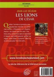 Les lions de César - 4ème de couverture - Format classique
