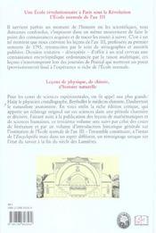 Cours De L'An Iii/Sciences - 4ème de couverture - Format classique