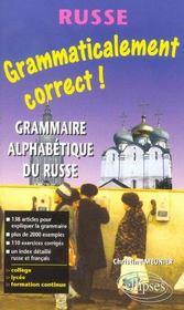 Grammaticalement Correct Grammaire Alphabetique Du Russe - Intérieur - Format classique