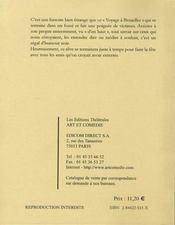Le voyage a bruxelles - 4ème de couverture - Format classique