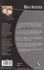 Mars heretica - 4ème de couverture - Format classique