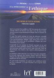 À la rencontre de l'éthique (2e édition) - 4ème de couverture - Format classique