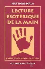 Lecture Esoterique De La Main - Couverture - Format classique
