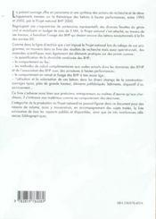 Synthese Des Travaux Du Projet National Bhp 2000 Sur Les Betons A Hautes Perfoma - 4ème de couverture - Format classique