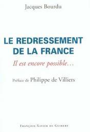 Redressement De La France - Intérieur - Format classique