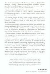 Redressement De La France - 4ème de couverture - Format classique