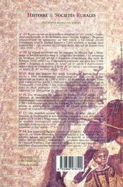Revue Histoire Et Societes Rurales N.19 ; Les Elites Locales Et La Terre A L'Epoque Romaine - 4ème de couverture - Format classique