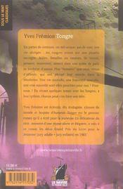 Tongre - 4ème de couverture - Format classique