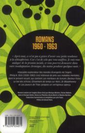 Romans 1960 - 1963 - 4ème de couverture - Format classique