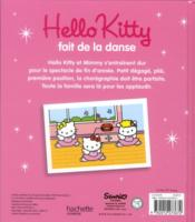 HELLO KITTY ; Hello Kitty fait de la danse - 4ème de couverture - Format classique