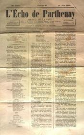 Echo De Parthenay (L') N°26 du 27/06/1869 - Couverture - Format classique