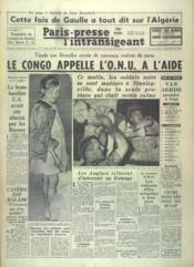 Paris Presse L'Intransigeant N°4847 du 12/07/1960 - Couverture - Format classique