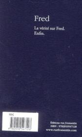 Fred - 4ème de couverture - Format classique