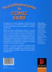 Tu n'utiliseras point le Comic Sans; les 365 lois du design graphique - 4ème de couverture - Format classique
