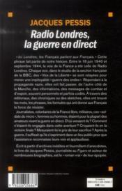Radio Londres, la guerre en direct - 4ème de couverture - Format classique
