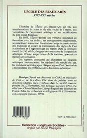L'Ecole Des Beaux Arts, Xix-Xx Siecles - 4ème de couverture - Format classique