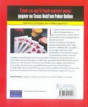 Comment gagner au texas hold'em poker online - 4ème de couverture - Format classique