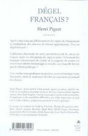 Degel Francais - 4ème de couverture - Format classique