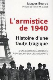 Armistice de 1940 - Couverture - Format classique