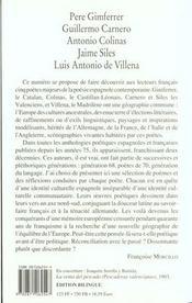 In'Hui ; Cinq Poètes Espagnols - 4ème de couverture - Format classique