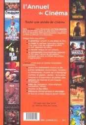L'annuel du cinéma (édition 2005) - 4ème de couverture - Format classique