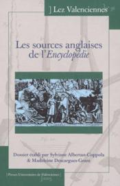 Les Sources Anglaises De L'Encyclopedie - Couverture - Format classique