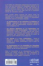Abecedaire Parlementaire L'Assemblee Nationale (L') - 4ème de couverture - Format classique