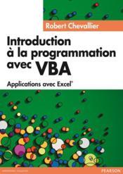 Introduction A La Programmation Avec Vba - Couverture - Format classique