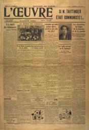 Oeuvre (L') N°7126 du 05/04/1935 - Couverture - Format classique
