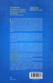 La maternité à l'épreuve du genre ; métamorphoses et permanences de la maternité dans l'aire méditerranéenne - 4ème de couverture - Format classique