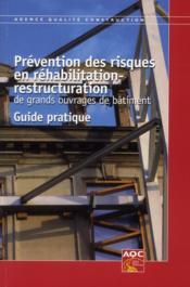 Prévention des risques en réhabilitation-restructuration de grands ouvrages de bâtiment - Couverture - Format classique