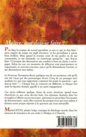 Maitre Que Dois-Je Faire - 4ème de couverture - Format classique