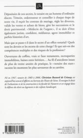Petits et grands secrets d'un notaire - 4ème de couverture - Format classique