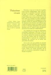 Théorème vivant - 4ème de couverture - Format classique