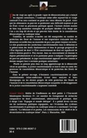 Le glaive et la balance ; droits de l'homme, justice constitutionnelle et démocratie en Amérique latine - 4ème de couverture - Format classique