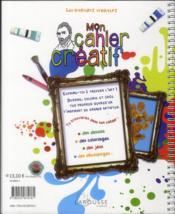 Mon cahier créatif - 4ème de couverture - Format classique