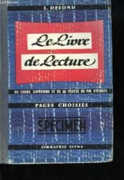 Le Livre De Lecture Du Cours Superieur - Couverture - Format classique