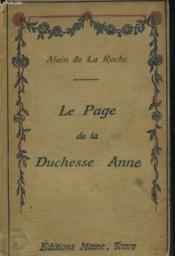Le Page De La Duchesse Anne.Recits De Haute Et Basse Bretagne - Couverture - Format classique
