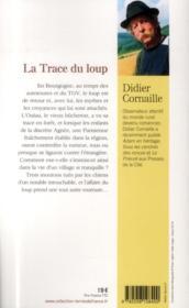 La trace du loup - 4ème de couverture - Format classique