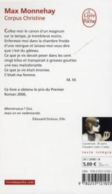 Corpus Christine - 4ème de couverture - Format classique