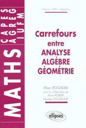 Carrefours Entre Analyse Algebre Geometrie Maths Capes Agreg Iufm - Intérieur - Format classique