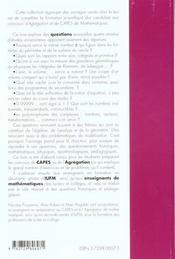 Carrefours Entre Analyse Algebre Geometrie Maths Capes Agreg Iufm - 4ème de couverture - Format classique