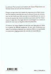 Maths Ptsi Pt Exercices Avec Indications Et Corriges Detailles Pour Assimiler Tout Le Programme - 4ème de couverture - Format classique