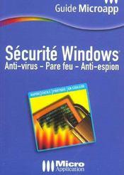 Securite Windows ; Antivirus Et Pare-Feu - Intérieur - Format classique