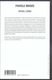 Parole brisee - 4ème de couverture - Format classique
